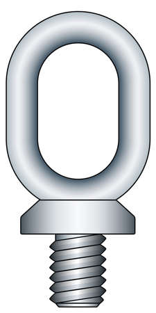 iron hoops: Illustration of the oblong ringbolt icon