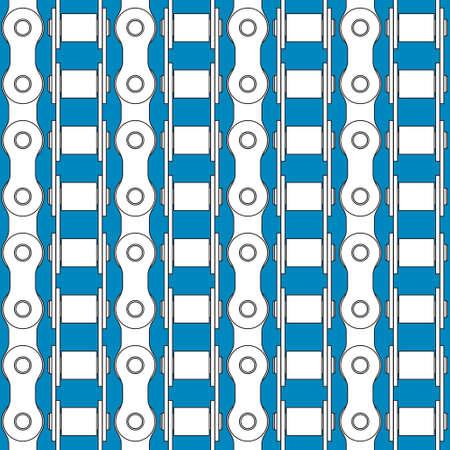 catenation: Seamless pattern of the bike chains