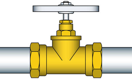 sanitaryware: Illustration of the valving faucet pipeline