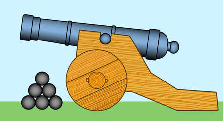 gunfire: Illustration of the old cannon icon