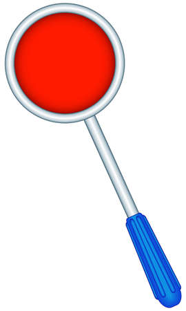 nightstick: Illustration of the traffic police red disk staff icon