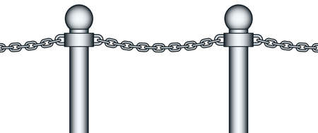 chainlink fence: Illustration of the seamless steel chain fencing