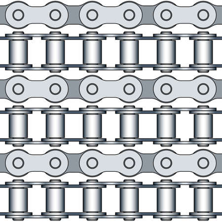 bike chain: Seamless pattern of the bike chain elements