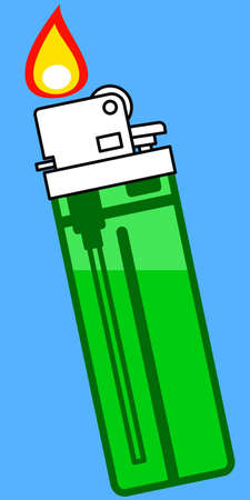 gas lighter: Illustration of the gas lighter icon