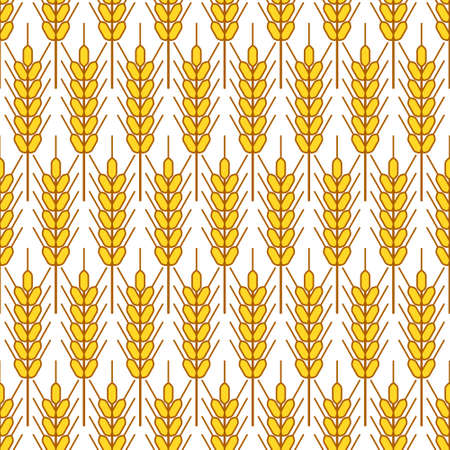 spiked: Seamless pattern of the spiked grains Illustration