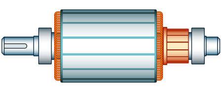 copper magnet: Illustration of the electric motor rotor Illustration
