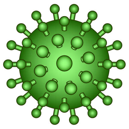 science is exciting: Illustration of the abstract virus icon Illustration