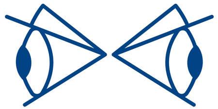 Illustration of the cartoon eyes symbol icon