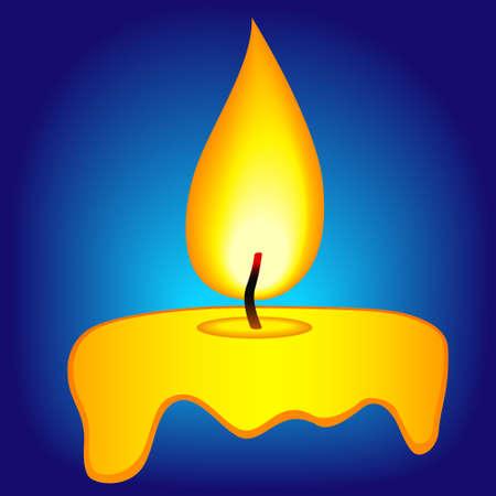 Illustration de l'icône de bougie abstraite