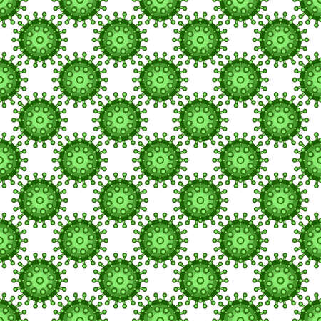 science is exciting: Seamless pattern of the abstract viruses Illustration