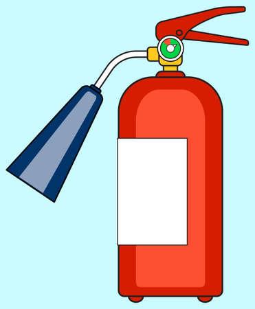 carbondioxide: Illustration of the fire extinguisher icon Illustration