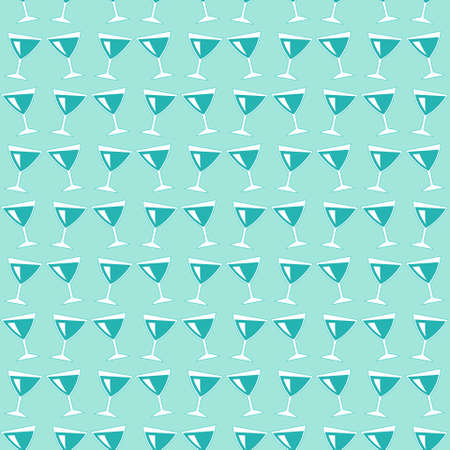 bender: Seamless pattern of the wine glasses icon Illustration