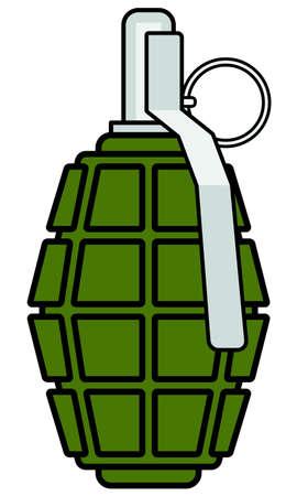 lanzamiento de bala: Ilustración del icono de la granada militar
