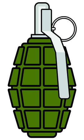 Illustration of the military grenade icon