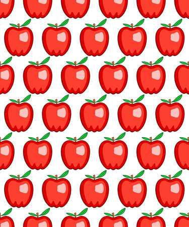 red apples: Seamless pattern of the red apples Illustration