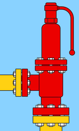 excess: Illustration of the safety overload relief valve icon Illustration