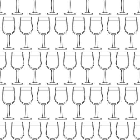 bender: Seamless pattern of the contour glasses