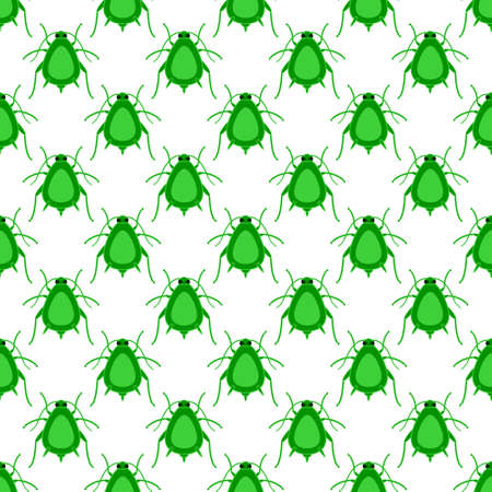 vermin: Seamless pattern of the greenfly insects