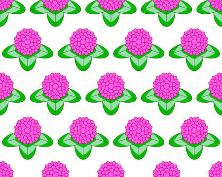seamless clover: Seamless pattern of the clover flowers Illustration