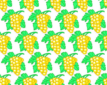 vitis: Seamless pattern of the grapes bunches