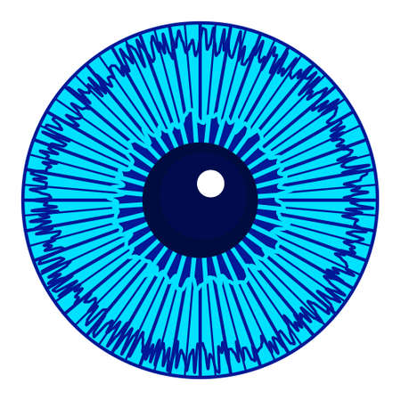 Illustration of the cartoon eye iris icon