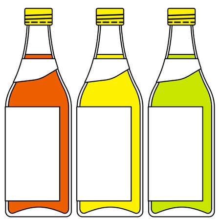 bender: Illustration of the bottles set Illustration