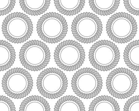 helical: Seamless pattern of the helical gears