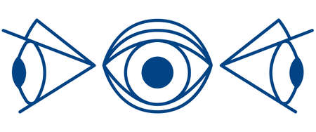 side viewing: Illustration of the cartoon eyes icon