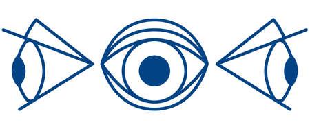 Illustration of the cartoon eyes icon