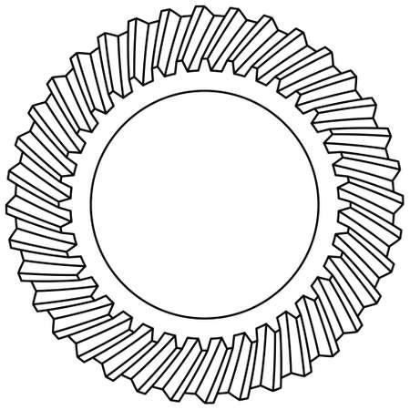 はすば歯車のアイコンの図