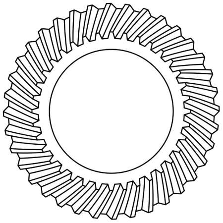 Illustration of the helical gear icon 向量圖像