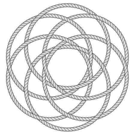 Illustration of the abstract rope ornament