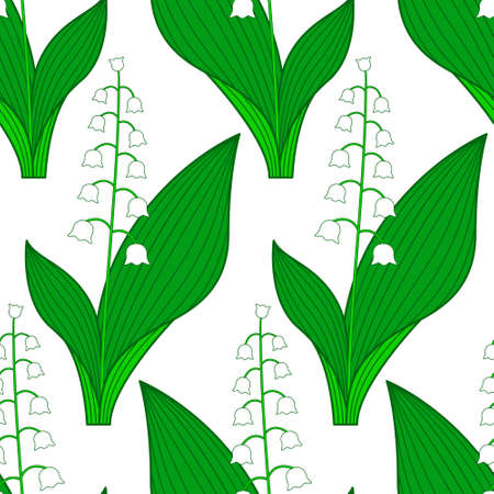 lily of the valley: Seamless pattern of the lily of the valley