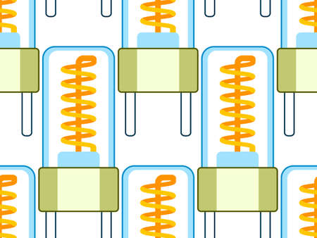 Seamless pattern of the mini glow lamps