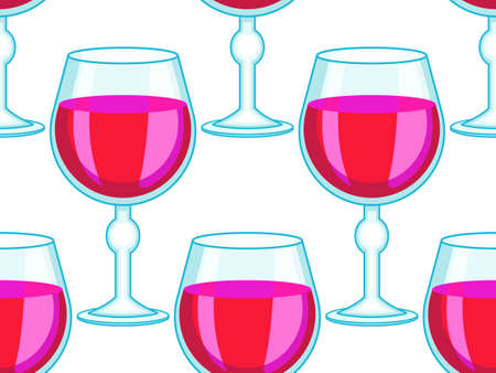 bender: Seamless pattern of the tall wineglasses Illustration