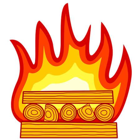 Illustration of the burning wood icon