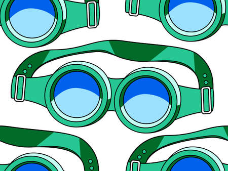 Seamless pattern of the protective spectacles