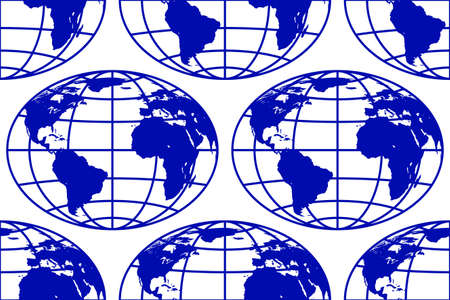 Seamless pattern of the abstract globes. Elements of this image furnished by NASA. Source of map:  http:visibleearth.nasa.govview.php?id=74518