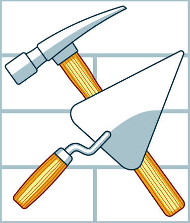 Illustration of the crossing hammer and trowel