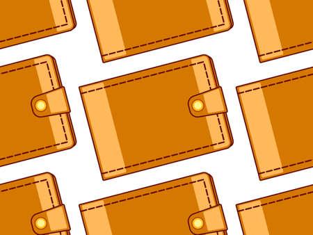 billfold: Seamless pattern of the cash wallets Illustration
