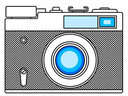 handheld device: Illustration of the vintage photographic camera icon