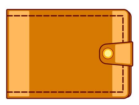 billfold: Illustration of the cash wallet icon Illustration