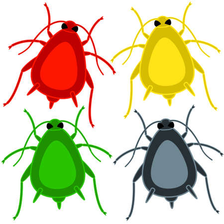 vermin: Illustration of the aphid insect icon set Illustration