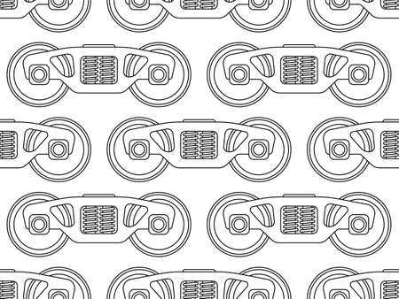 bogie: Seamless pattern of the railroad wagon bogies