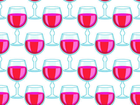 bender: Seamless pattern of the tall wineglasses decoration