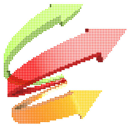 Illustration of the abstract halftone arrows Illustration