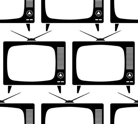 retro tv: Seamless pattern of the retro TV