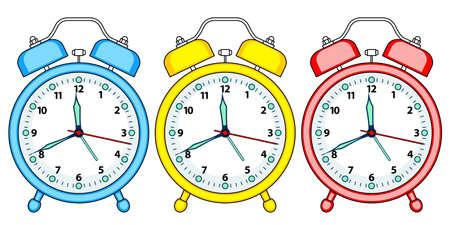 analogous: Illustration of the alarm clock set