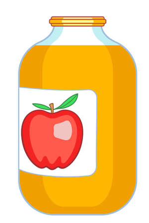Apple juice icon 向量圖像