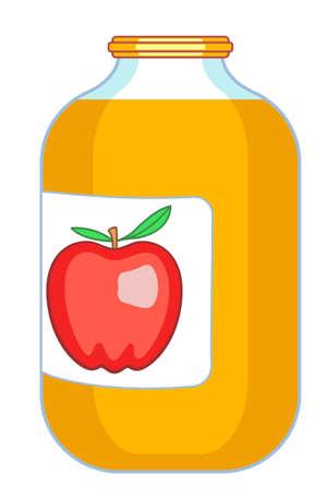 Icono de jugo de manzana Ilustración de vector